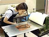 銅版画教室の教室風景・作品