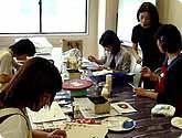 デコパージュ・トールペインティングの教室風景・作品
