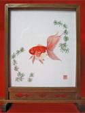 日本刺繍の教室風景・作品