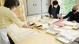 裏打ち・表装の教室風景・作品